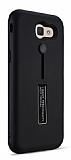 Eiroo Alloy Fit Samsung Galaxy J7 Prime Selfie Yüzüklü Siyah Metal Kılıf