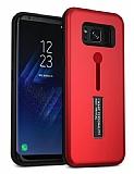 Eiroo Alloy Fit Samsung Galaxy S8 Plus Selfie Yüzüklü Kırmızı Metal Kılıf