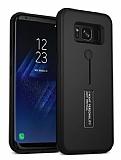 Eiroo Alloy Fit Samsung Galaxy S8 Selfie Yüzüklü Siyah Kılıf