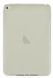 Apple iPad mini 4 Ultra İnce Şeffaf Gold Silikon Kılıf