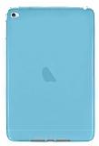 Apple iPad mini 4 Ultra İnce Şeffaf Mavi Silikon Kılıf