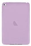 Apple iPad mini 4 Ultra İnce Şeffaf Pembe Silikon Kılıf
