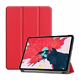 Eiroo Apple iPad Pro 12.9 2020 Slim Cover Kırmızı Kılıf