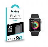 Eiroo Apple Watch 4 / Watch 5 Tempered Glass Premium Şeffaf Full Cam Ekran Koruyucu (44 mm)