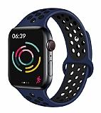 Eiroo Apple Watch / Watch 2 / Watch 3 Lacivert Spor Kordon (42 mm)