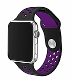Eiroo Apple Watch Siyah-Mor Spor Kordon (38 mm)