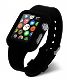 Eiroo Apple Watch Silikon Kordon Siyah K�l�f (42 mm)
