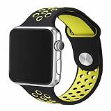 Eiroo Apple Watch Yeşil-Siyah Spor Kordon (42 mm)