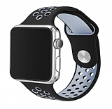 Eiroo Apple Watch Gri-Siyah Spor Kordon (42 mm)