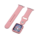 Eiroo Apple Watch Spor Kordon ve Pembe Kılıf (38 mm)