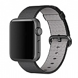 Eiroo Apple Watch / Watch 2 / Watch 3 Siyah Spor Loop Kordon (42 mm)