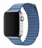 Eiroo Apple Watch / Watch 2 / Watch 3 Titanyum Metal Mavi Kantaron Kordon (42 mm)
