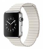 Eiroo Apple Watch / Watch 2 / Watch 3 Titanyum Metal Beyaz Kordon (42 mm)