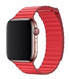 Eiroo Apple Watch / Watch 2 / Watch 3 Titanyum Metal Kırmızı Kordon (42 mm)