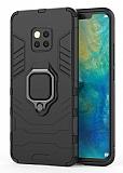 Eiroo Armor Huawei Mate 20 Pro Standlı Ultra Koruma Siyah Kılıf