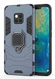 Eiroo Armor Huawei Mate 20 Pro Standlı Ultra Koruma Lacivert Kılıf