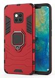 Eiroo Armor Huawei Mate 20 Pro Standlı Ultra Koruma Kırmızı Kılıf
