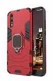 Eiroo Armor Huawei P20 Pro Standlı Ultra Koruma Kırmızı Kılıf