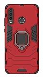 Eiroo Armor Huawei P30 Lite Standlı Ultra Koruma Kırmızı Kılıf