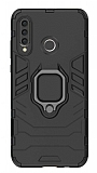 Eiroo Armor Huawei P30 Lite Standlı Ultra Koruma Siyah Kılıf