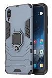 Eiroo Armor Huawei Y6 2019 Standlı Ultra Koruma Lacivert Kılıf