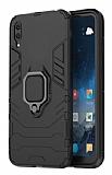 Eiroo Armor Huawei Y6 2019 Standlı Ultra Koruma Siyah Kılıf