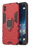 Eiroo Armor Huawei Y6 2019 Standlı Ultra Koruma Kırmızı Kılıf