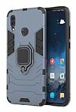 Eiroo Armor Huawei Y7 2019 Standlı Ultra Koruma Lacivert Kılıf