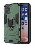 Eiroo Armor iPhone 11 Pro Max Standlı Ultra Koruma Yeşil Kılıf