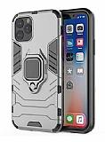 Eiroo Armor iPhone 11 Pro Max Standlı Ultra Koruma Silver Kılıf