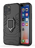 Eiroo Armor iPhone 11 Pro Max Standlı Ultra Koruma Siyah Kılıf