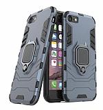 Eiroo Armor iPhone 7 / 8 Standlı Ultra Koruma Lacivert Kılıf