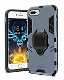Eiroo Armor iPhone 7 Plus / 8 Plus Standlı Ultra Koruma Lacivert Kılıf
