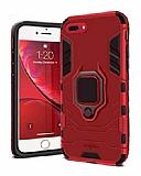 Eiroo Armor iPhone 7 Plus / 8 Plus Standlı Ultra Koruma Kırmızı Kılıf