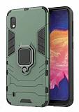 Eiroo Armor Samsung Galaxy A10 Standlı Ultra Koruma Yeşil Kılıf