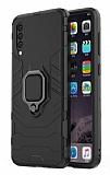 Eiroo Armor Samsung Galaxy A50 Standlı Ultra Koruma Siyah Kılıf