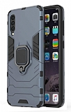Eiroo Armor Samsung Galaxy A50 Standlı Ultra Koruma Lacivert Kılıf