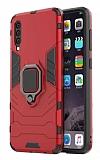 Eiroo Armor Samsung Galaxy A50 Standlı Ultra Koruma Kırmızı Kılıf