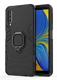 Eiroo Armor Samsung Galaxy A7 2018 Standlı Ultra Koruma Siyah Kılıf