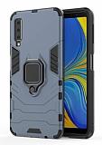 Eiroo Armor Samsung Galaxy A7 2018 Standlı Ultra Koruma Lacivert Kılıf