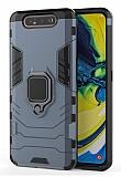Eiroo Armor Samsung Galaxy A80 Standlı Ultra Koruma Lacivert Kılıf