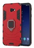 Eiroo Armor Samsung Galaxy J4 Plus Standlı Ultra Koruma Kırmızı Kılıf