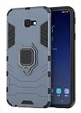 Eiroo Armor Samsung Galaxy J4 Plus Standlı Ultra Koruma Lacivert Kılıf