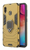 Eiroo Armor Samsung Galaxy M10s Standlı Ultra Koruma Gold Kılıf