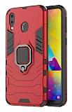 Eiroo Armor Samsung Galaxy M20 Standlı Ultra Koruma Kırmızı Kılıf