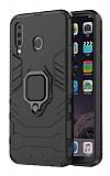 Eiroo Armor Samsung Galaxy M30 Standlı Ultra Koruma Siyah Kılıf
