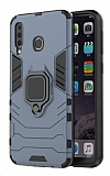 Eiroo Armor Samsung Galaxy M30 Standlı Ultra Koruma Lacivert Kılıf