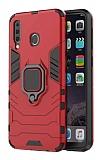 Eiroo Armor Samsung Galaxy M30 Standlı Ultra Koruma Kırmızı Kılıf