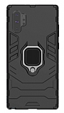 Eiroo Armor Samsung Galaxy Note 10 Plus Standlı Ultra Koruma Siyah Kılıf