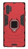 Eiroo Armor Samsung Galaxy Note 10 Plus Standlı Ultra Koruma Kırmızı Kılıf